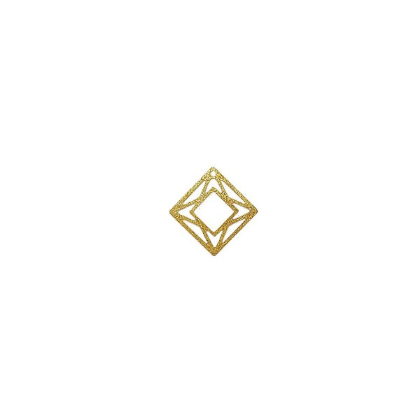 01-1571 - 1/2Kg de Estamparia Diamantada Quadrada Geométrica 17mm
