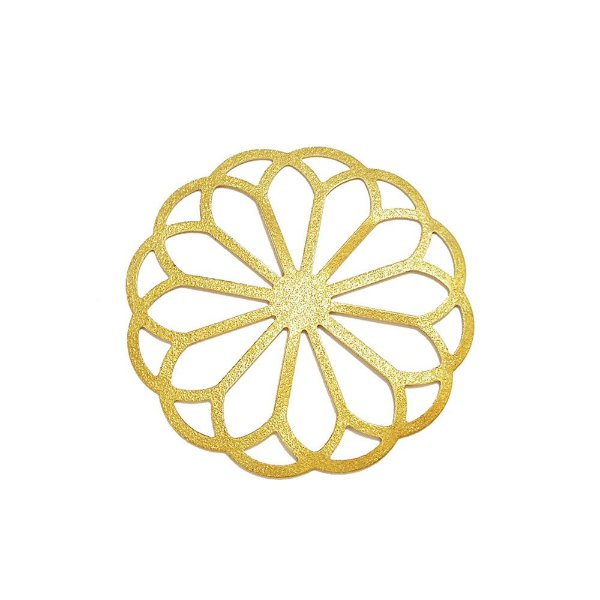 01-1634 - 1/2Kg de Estamparia Diamantada Flor Redonda 48mm