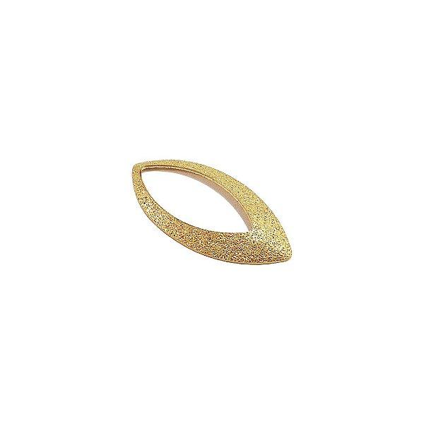 01-1433 - 1/2Kg de Estamparia Diamantada Navete Vazada 30mmx14mm