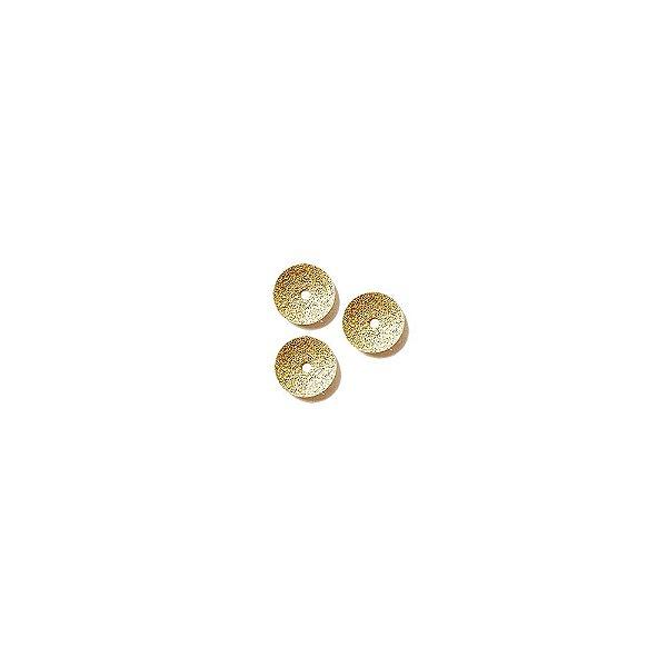 01-1495 - 1/2Kg de Estamparia Diamantada Redonda com Furo Central 8mm
