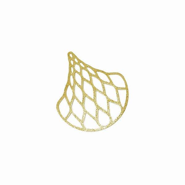 01-1849 - 1/2Kg de Estamparia Diamantada Gota Trançada 36mmx44mm