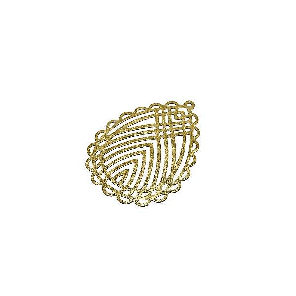 01-1850 - 1/2Kg de Estamparia Diamantada Gota Rendada 25mmx35mm