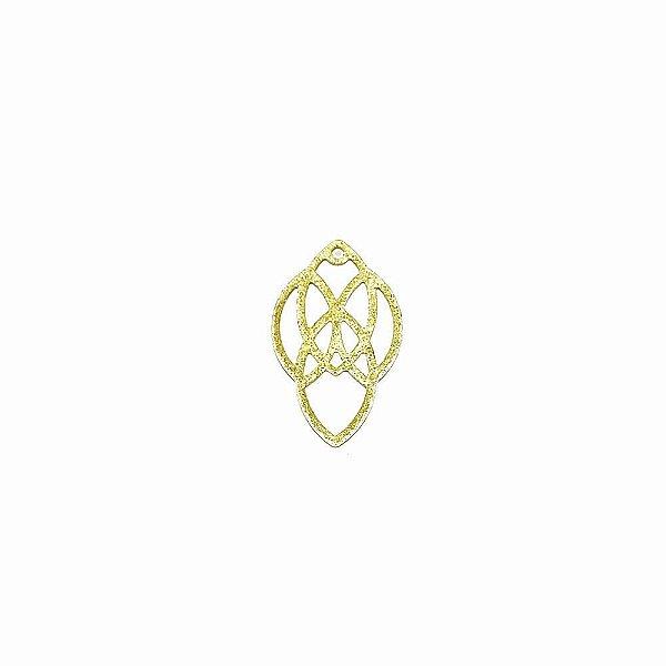 01-1862 - 1/2Kg de Estamparia Diamantada Navetes Entrelaçados 14mmx23mm