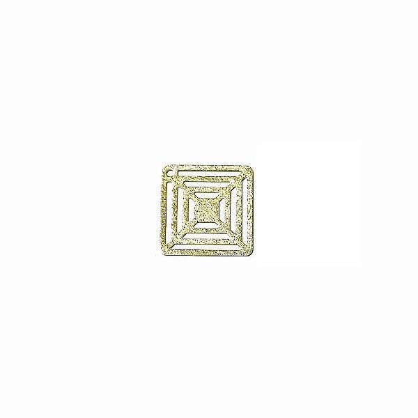 01-1863 - 1/2Kg de Estamparia Diamantada Quadrada Vazada 15mmx15mm