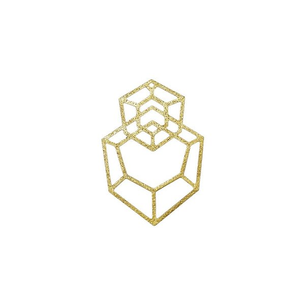 01-1867 - 1/2Kg de Estamparia Diamantada Hexágonos 40mmx27mm
