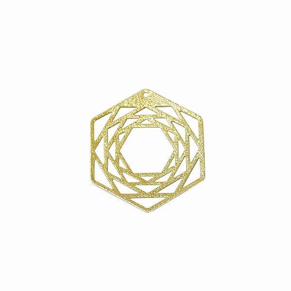 01-1872 - 1/2Kg de Estamparia Diamantada Geométrica Hexágonos  28mmx33mm