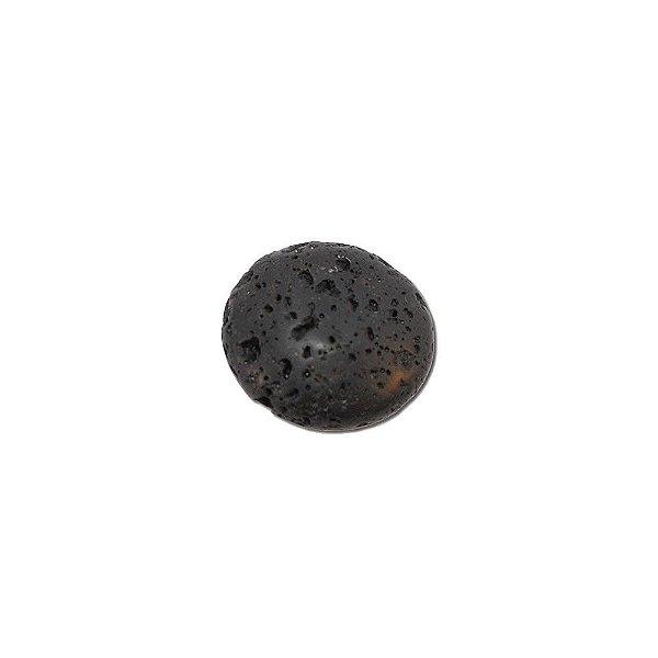 10-0047 - Pacote de 1 Kg de Pedra Vulcânica Preta Disco com Passante 25mm