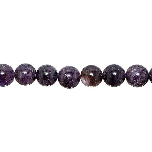 10-0051 - Fio de Pedras Ametistas Bolas com Passante 12mm