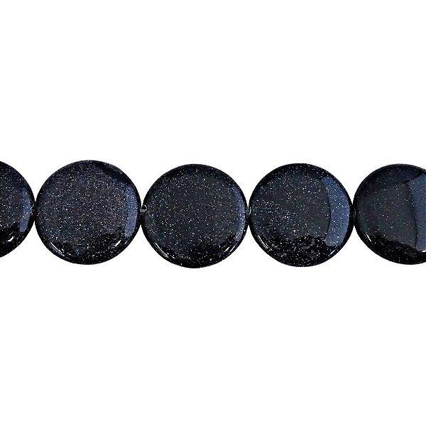 10-0062 - Fio de Pedras Aventurinas Discos com Passante 25mm