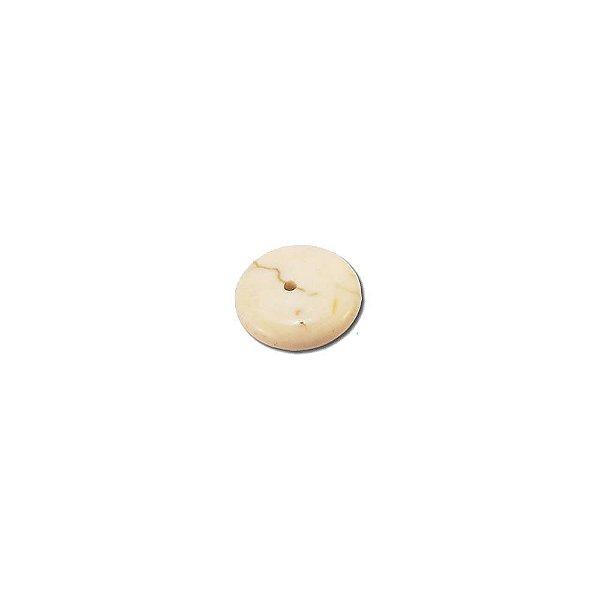 10-0069 - Pacote com 1 Kg de Pedra Marfim Disco Redondo com Passante 14mm