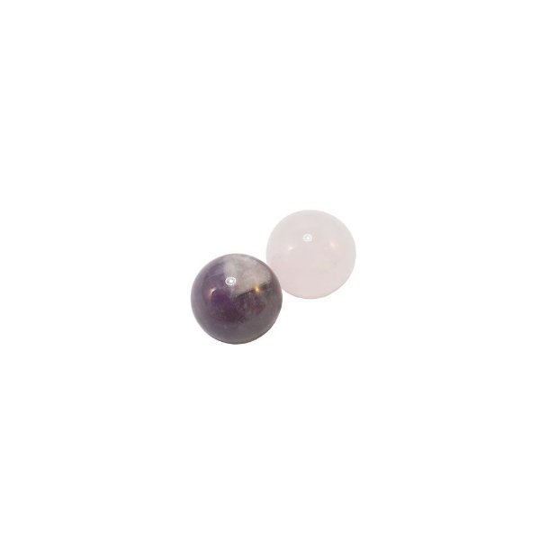 10-0124 - Pacote com 10 Pedras Quartzo Bola com Passante 10mm