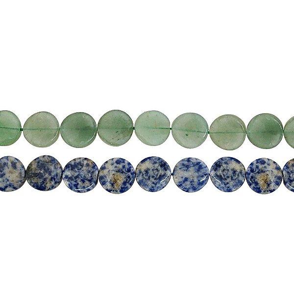 10-0126 - Fio de Pedras Quartzo Redondas com Passante 16mm