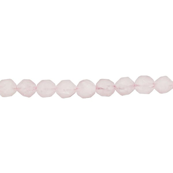 10-0166 - Fio de Pedras Quartzo Rosa Bolas Facetadas 12mm