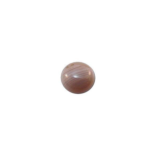 10-0175 - Pacote com 10 Pedras Ágata Chaton Redondo 14mm