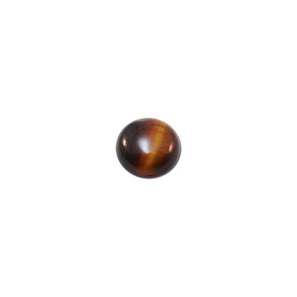 10-0180 - Pacote com 10 Pedras Olho de Tigre Chaton Redondo 14mm