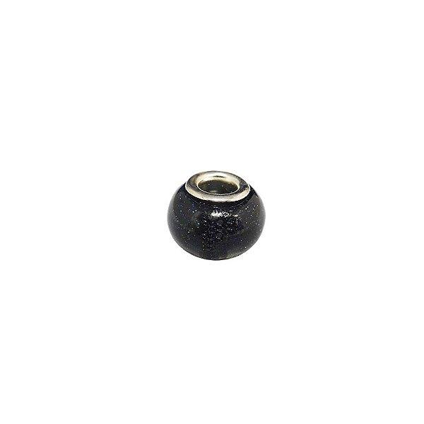 10-0190 - Pacote com 10 Berloques em Pedra Aventurina estilo Pandora 14mm