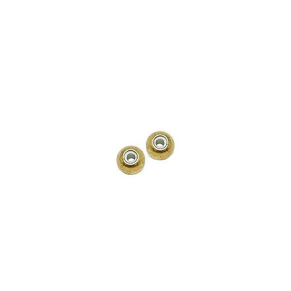 01-1847 - Pacote com 100 Bolas em Latão Revestidas com Silicone 6mm