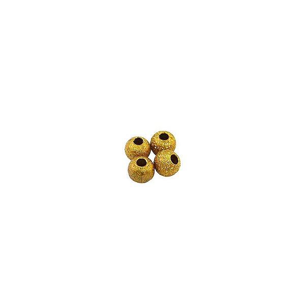 01-0596 - Pacote com 1000 Bolas Diamantadas em Latão 4mm