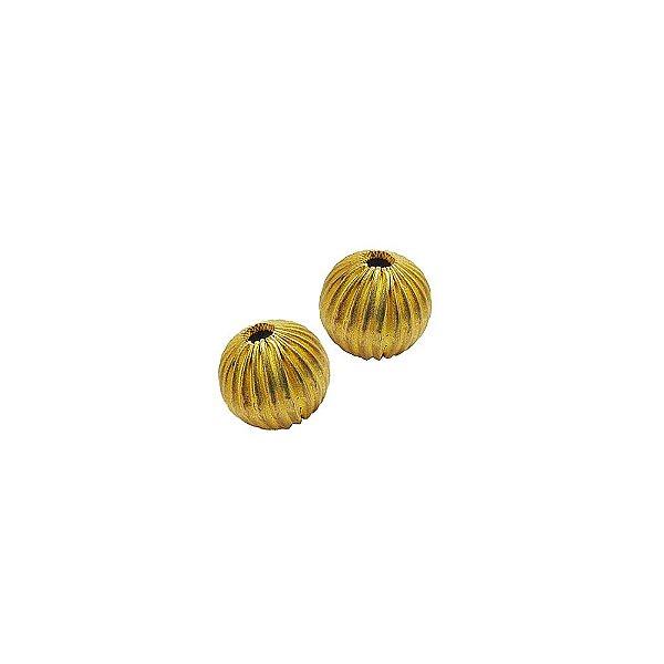 01-0132 - Pacote com 1000 Bolas em Latão com Entalhes Verticais 14mm