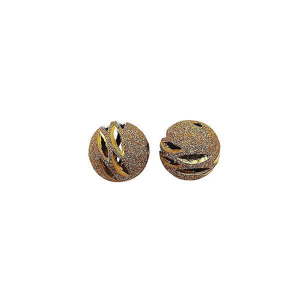 01-0690 - Pacote com 100 Bolas Diamantadas com Detalhes Vazados 12mm