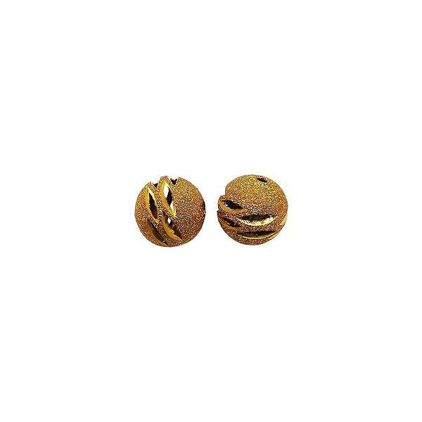 01-0691 - Pacote com 100 Bolas Diamantadas com Detalhes Vazados 14mm