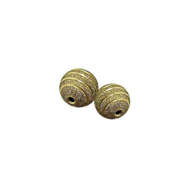 01-0713 - Pacote com 100 Bolas Diamantadas com Riscas Horizontais 12mm