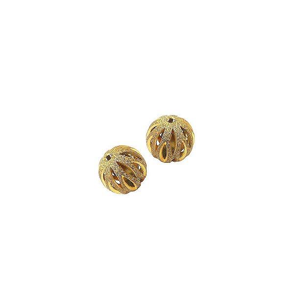 01-0740 - Pacote com 100 Bolas Diamantadas com Recortes Verticais 14mm
