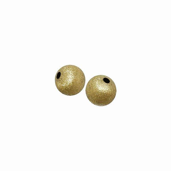 01-0901 - Pacote com 1000 Bolas em Latão Texturizadas 10mm