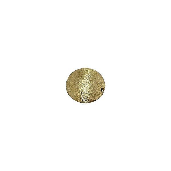 01-1066 - Pacote com 100 Bolas em Latão Achatada Riscada 15mm