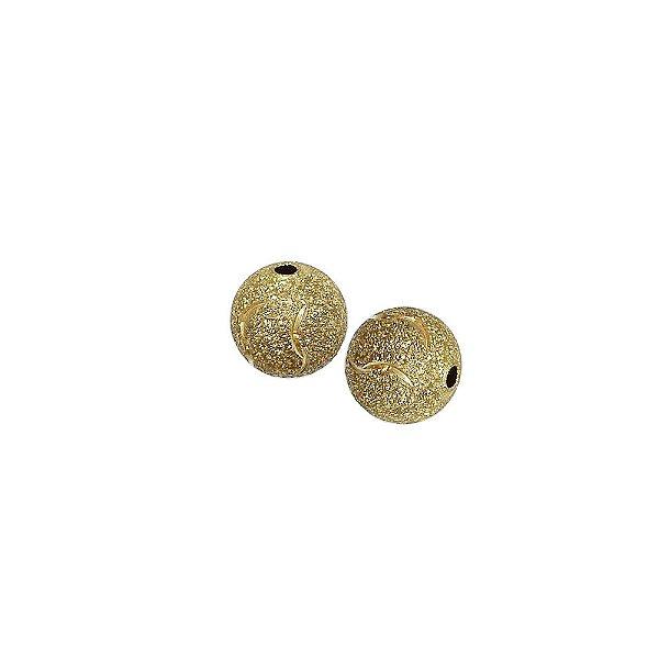 01-1456 - Pacote com 100 Bolas Diamantadas com Detalhes Meia Lua 10mm