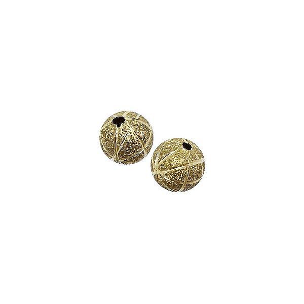 01-1458 - Pacote com 100 Bolas Diamantadas Linhas Verticais e Horizontais 10mm
