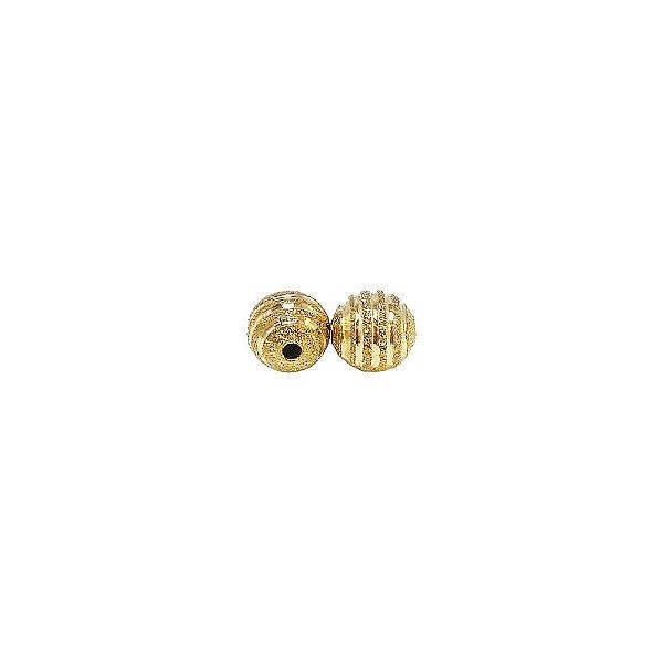 01-1461 - Pacote com 100 Bolas Diamantadas com Riscas Horizontais 8mm