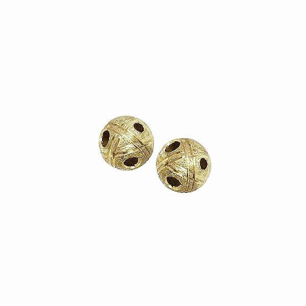 01-1464 - Pacote com 100 Bolas Diamantadas Riscas e Furos 10mm