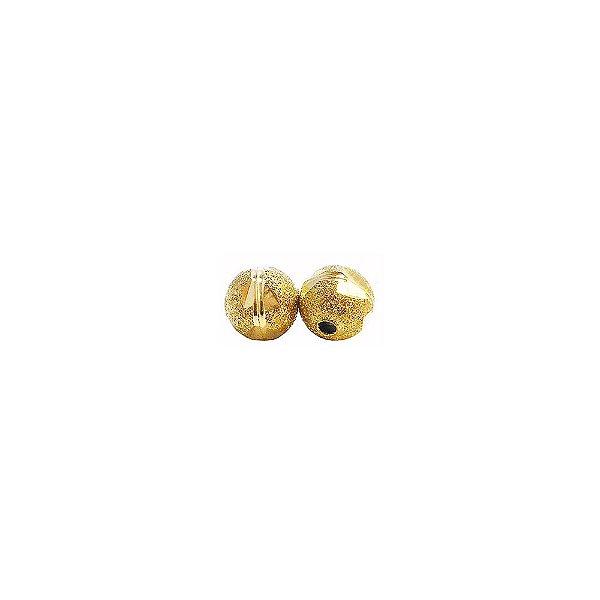 01-1469 - Pacote com 100 Bolas Diamantadas com Riscas Horizontais Entalhadas 8mm