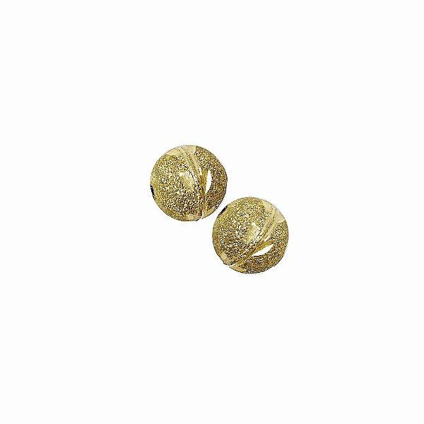 01-1470 - Pacote com 100 Bolas Diamantadas com Riscas Horizontais Entalhadas 10mm