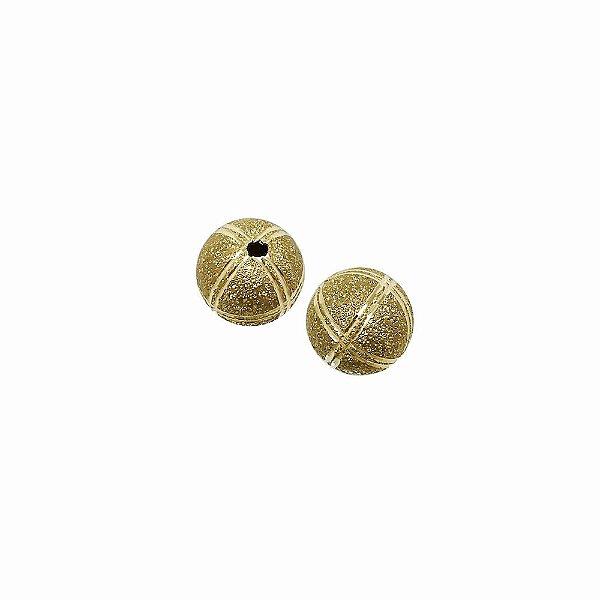 01-1472 - Pacote com 100 Bolas Diamantadas com Riscas Horizontas e Verticais 10mm