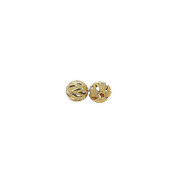 01-1482 - Pacote com 100 Bolas Diamantadas Recortes Verticais 8mm