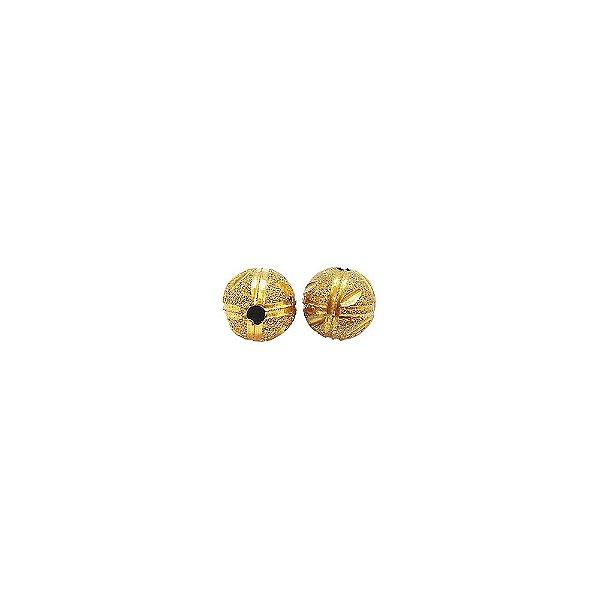 01-1465 - Pacote com 100 Bolas Diamantadas Riscas Verticais e Horizontais Entalhadas 8mm