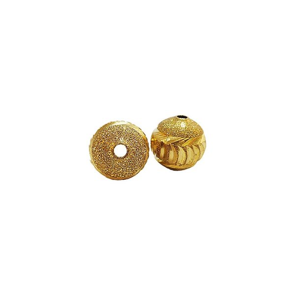 01-0801 - Pacote com 100 Bolas Diamantadas com Entalhes em Meia Lua 12mm