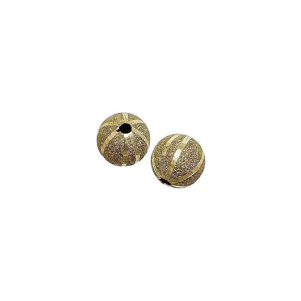 01-1452 - Pacote com 100 Bolas Diamantadas Riscas Verticais 10mm
