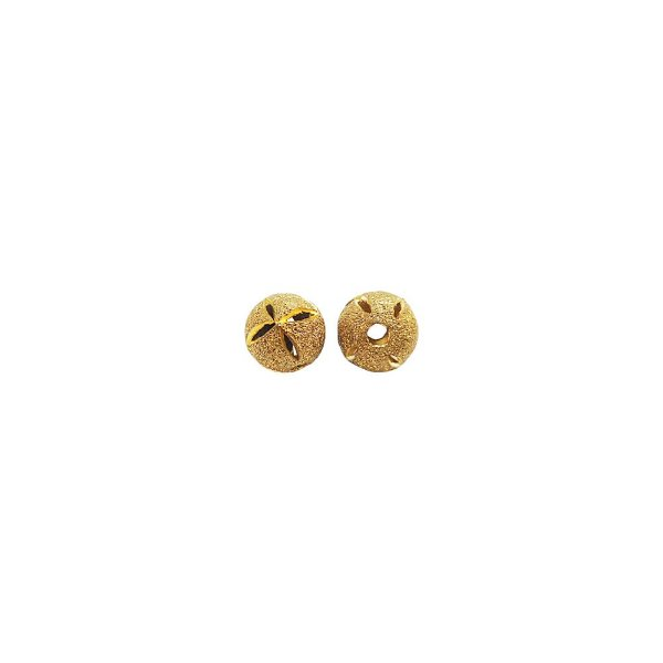 01-1447 - Pacote com 100 Bolas Diamantadas Flores Vazadas 8mm