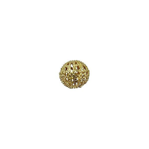 01-0080 - Pacote com 1000 Bolas em Latão Vazadas com Relevo 12mm
