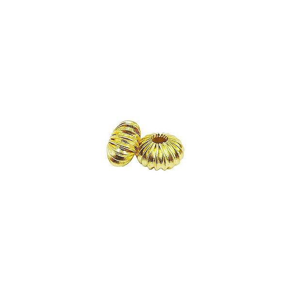01-0086 - Pacote com 1000 Bolas em Latão Achatadas Pitanga 5mmx10mm
