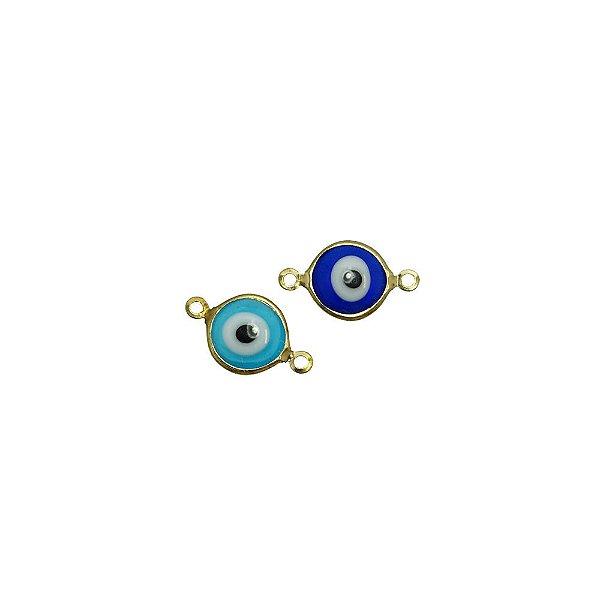 01-2132 - Pacote com 200 Entremeios Latão Olho Grego com 2 Saídas 10mm