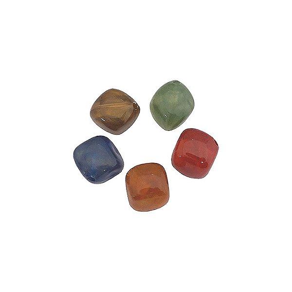 05-0017 - Pacote com 1 Kg de Acrílico Colorido Quadrado 10mm
