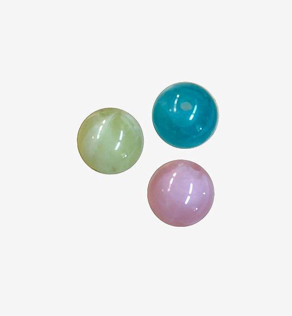 05-0220 - Pacote com 1 Kg de Acrílico Colorido Marmorizado Bola Lisa 16mm