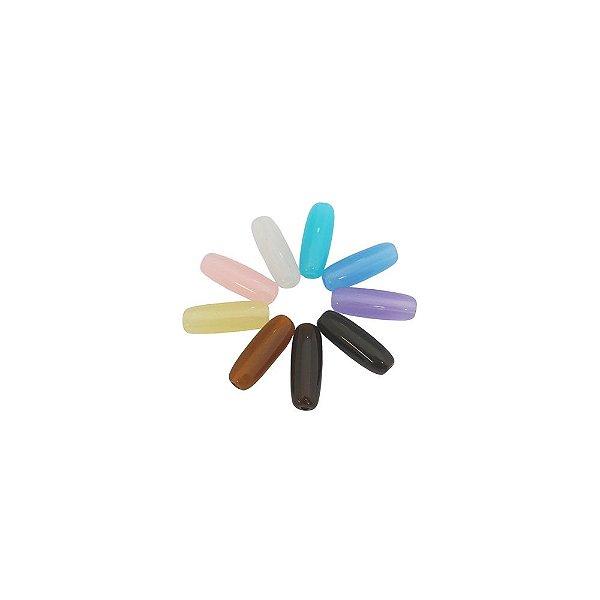 05-0273 - Pacote com 1 Kg de Acrílico Colorido Translúcido Tubo 28mmx10mm