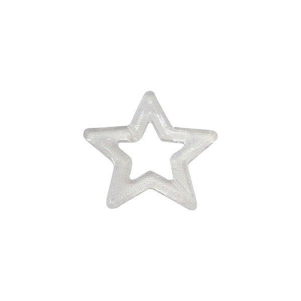 05-0634 - Pacote com 1 Kg de Acrílico Cristal Estrela Pingente 49mm