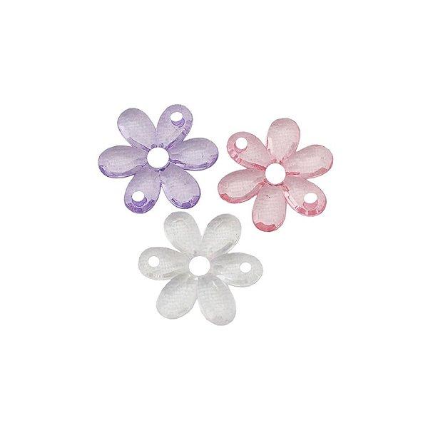 05-0745 - Pacote com 1 Kg de Acrílico Colorido Flor 22mm