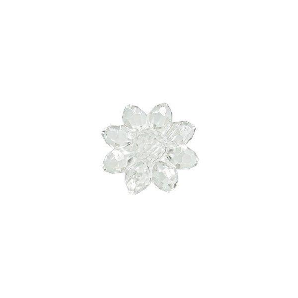 05-0747 - Pacote com 1 Kg de Acrílico Colorido Transparente Flor 27mm
